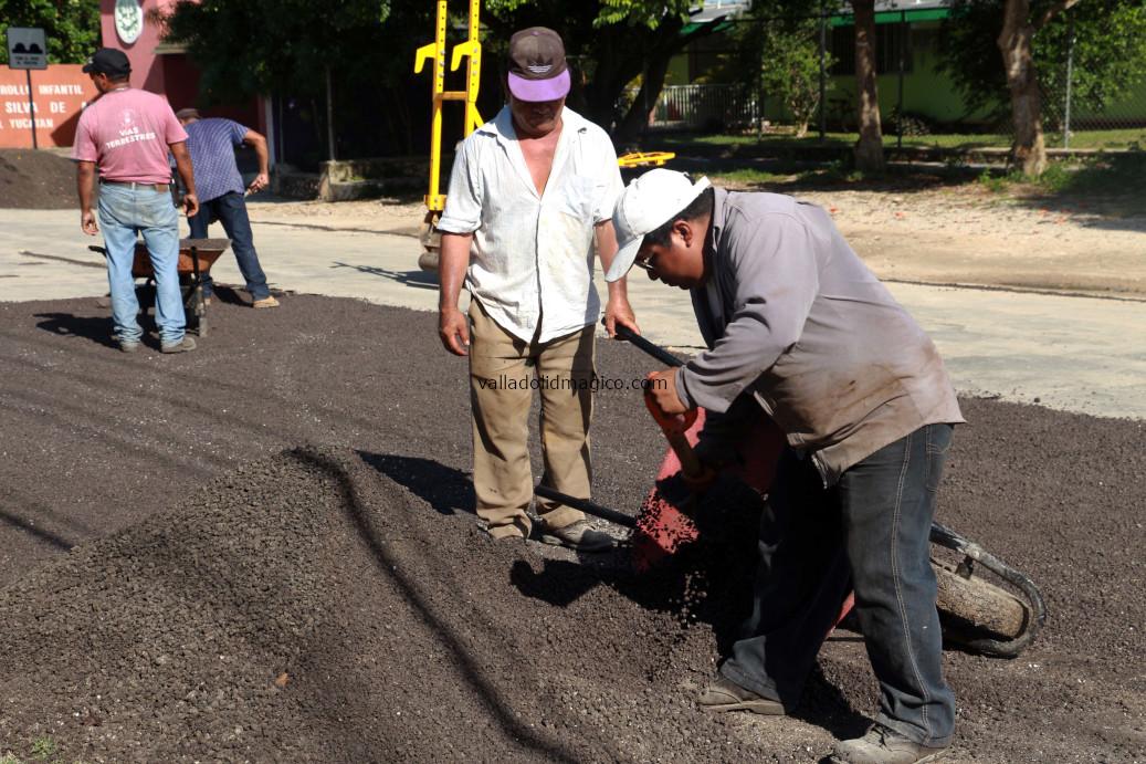 Se continúa trabajando en vías terrestres de Valladolid.
