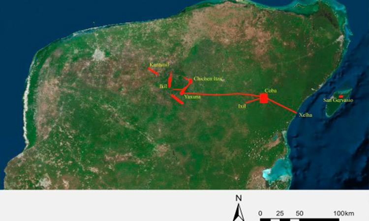 Avances en camino construido por princesa Maya