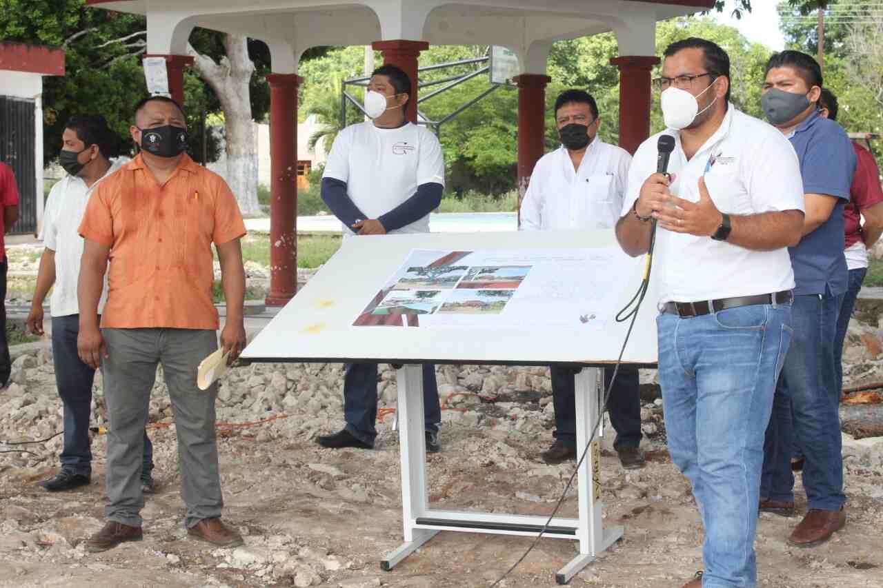 Comienza la rehabilitación integral del parque de Xuilub y la construcción de 70 pozos pluviales en la ciudad