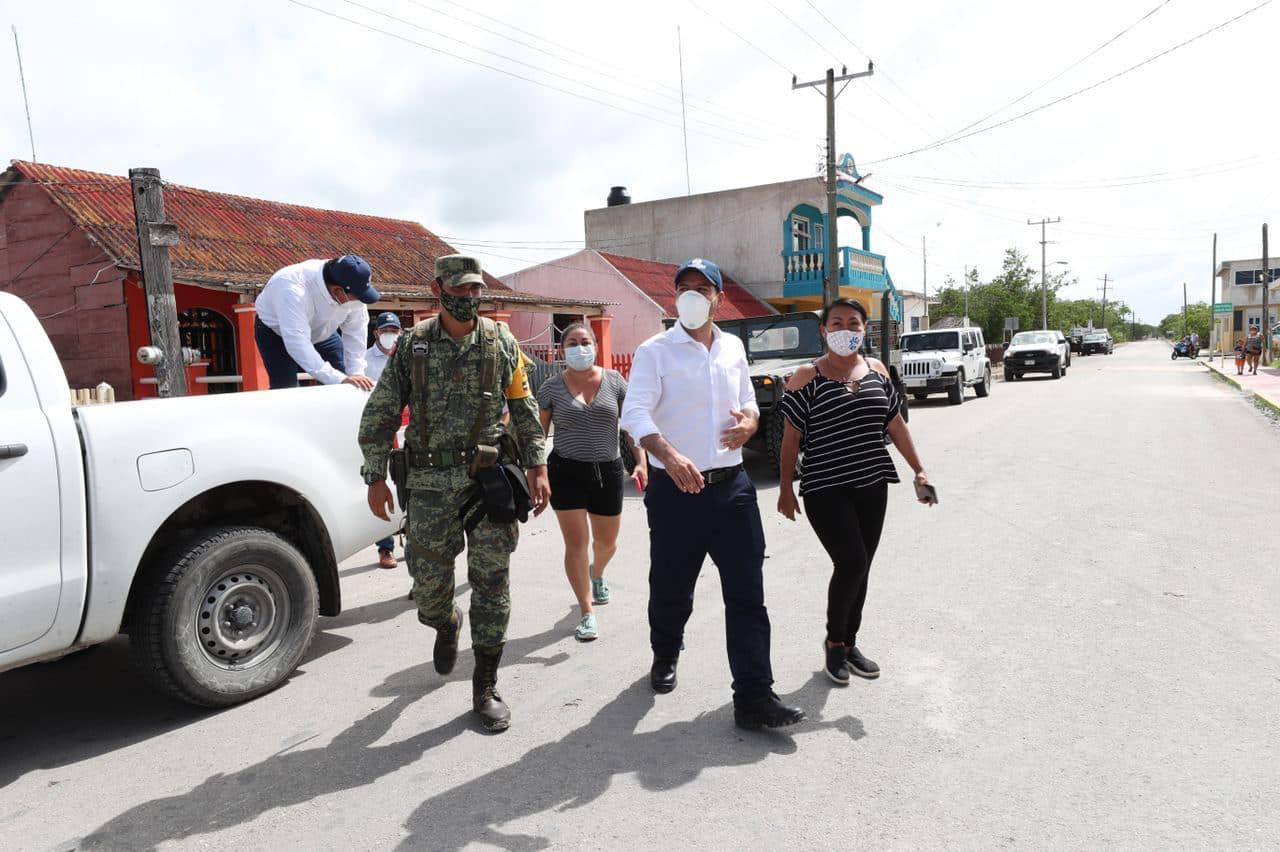 Mauricio Vila visitó San Felipe, mucha gente no quiso evacuar