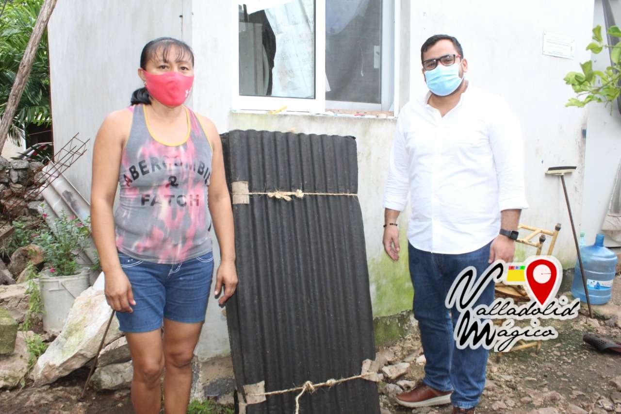 Familias dañadas por el huracán reciben apoyo