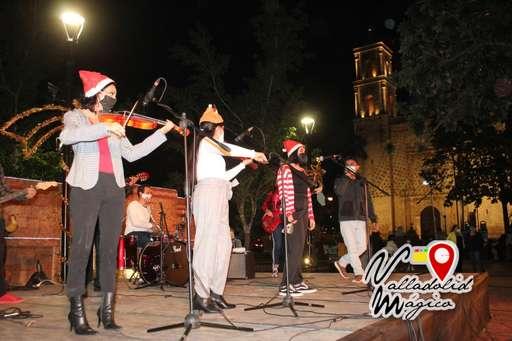 Celebran festival navideño a distancia en Valladolid Yucatán.