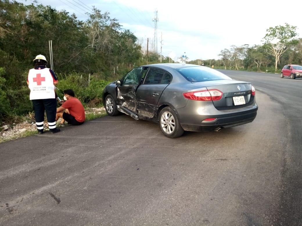 Accidente en tramo Ebtun -Valladolid por realizar maniobra intempestiva