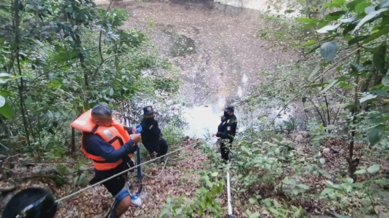 Encuentran a persona ahogada en cenote de Uayma