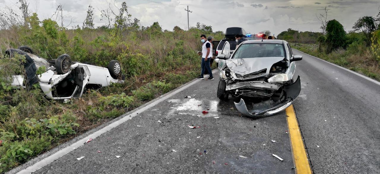Accidente automovilístico tramo libre unión