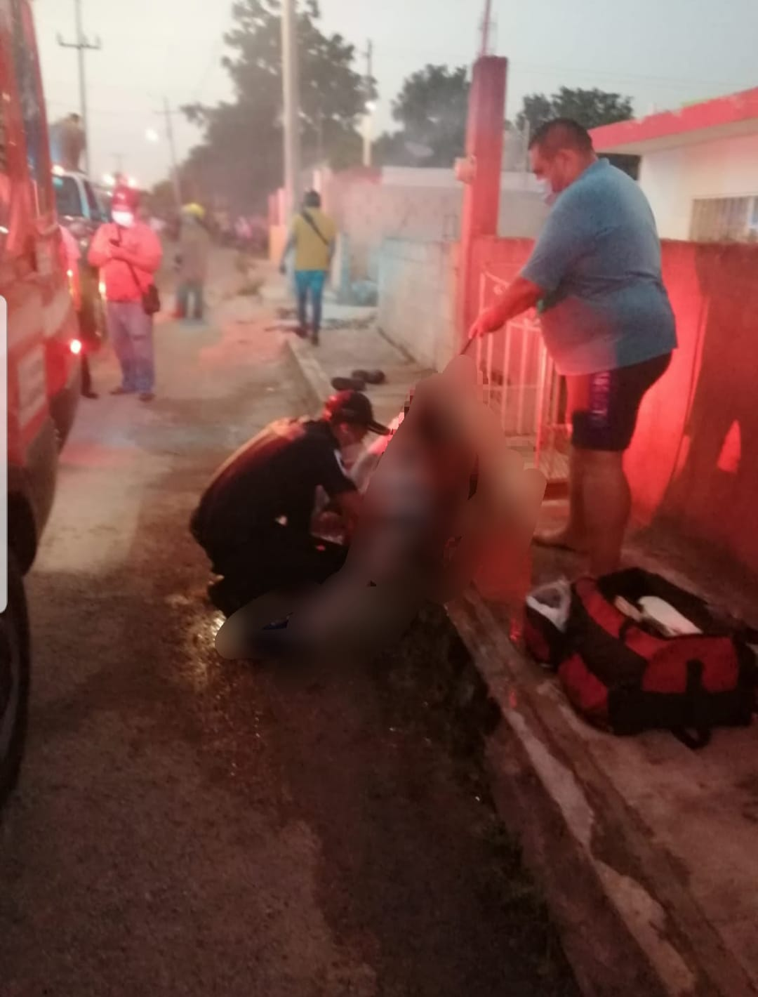 Se rocía gasolina y se prende fuego en Tizimin