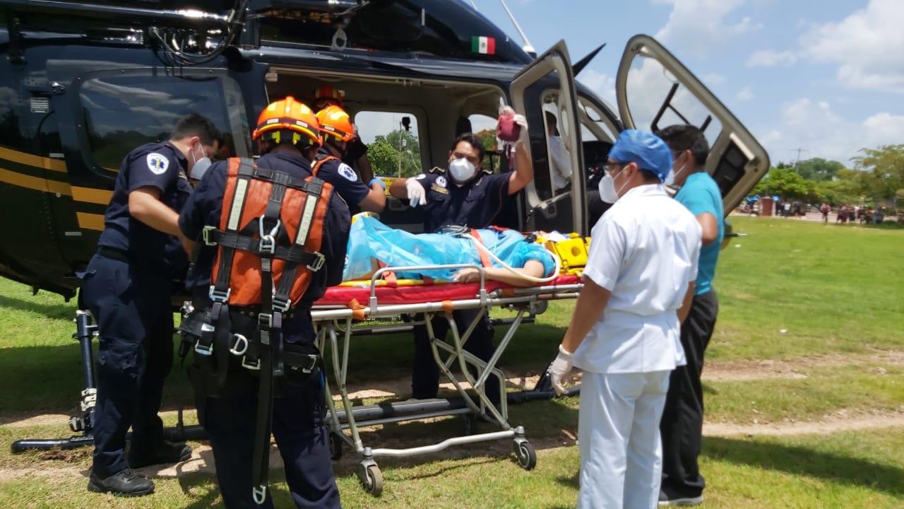Menor accidentada en Sucila es trasladada a Mérida