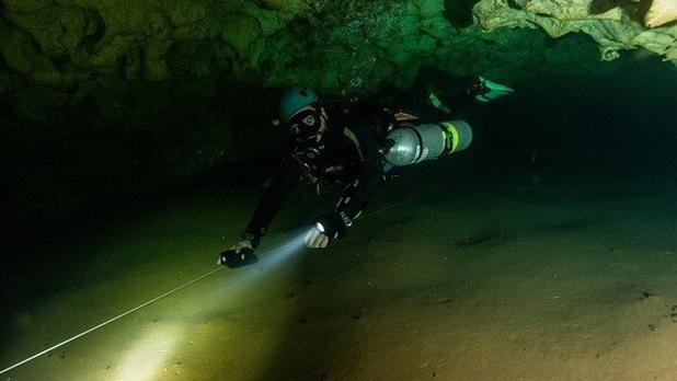 Descubren sistema subterraneo mas largo de Yucatán en Kaua, conecta un cenote con una gruta
